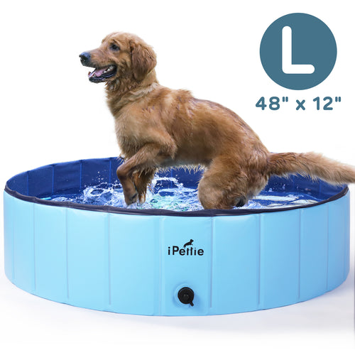 Foldable Dog Swimming Pool, Portable Collapsible Outdoor Pet Bathing Tub, 48