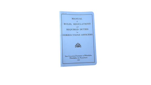 Corrections Officer's Manual
