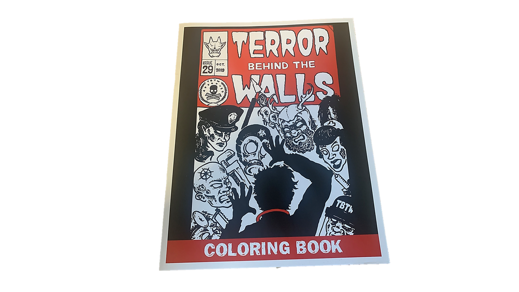 Terror Behind the Walls Coloring Book