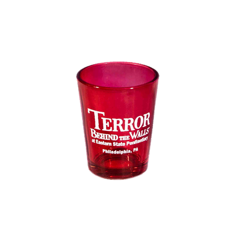 Terror Behind the Walls Red Shot Glass