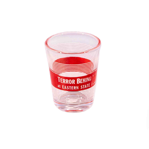 Terror Behind the Walls Stripped Shot Glass