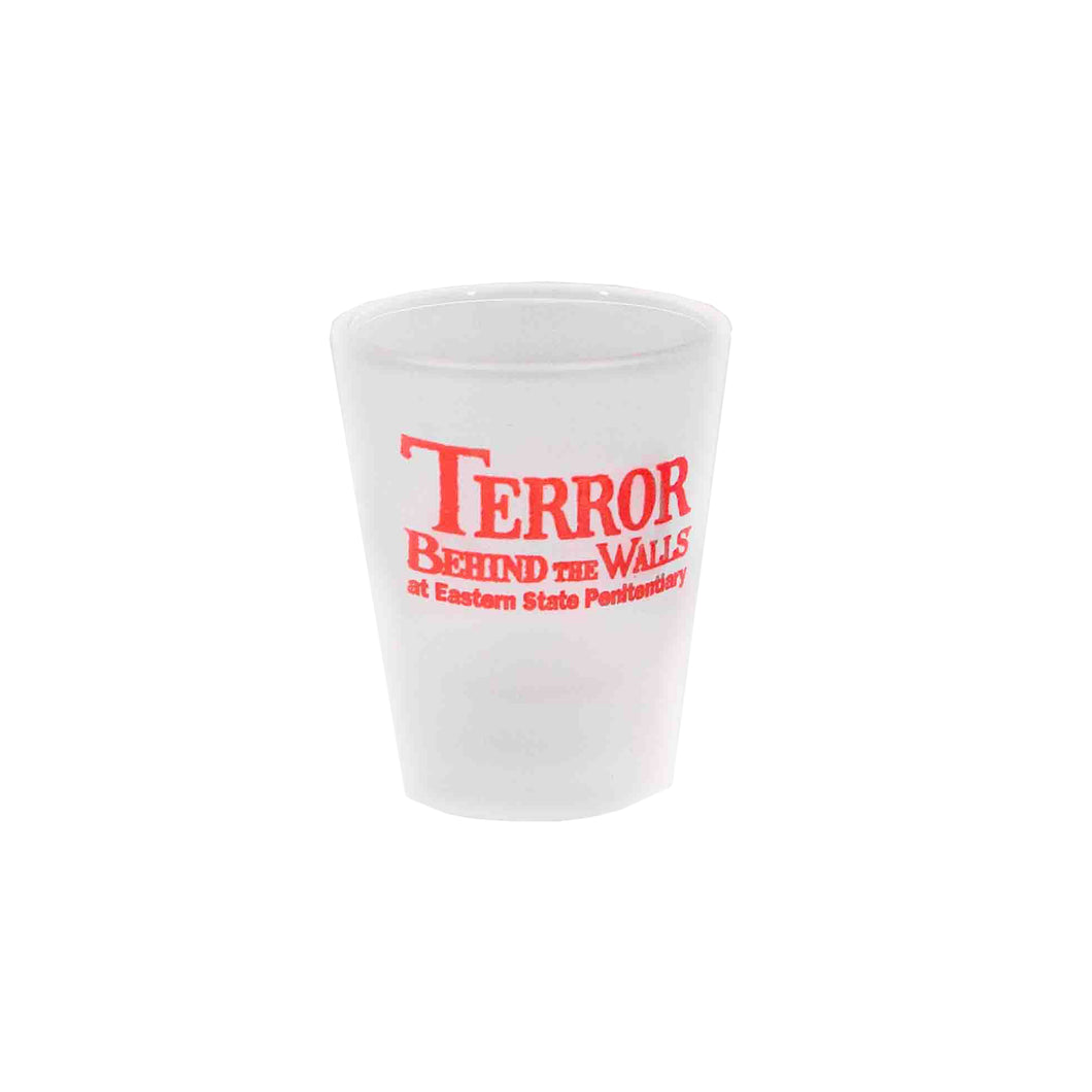 Terror Behind the Walls Frosted Shot Glass
