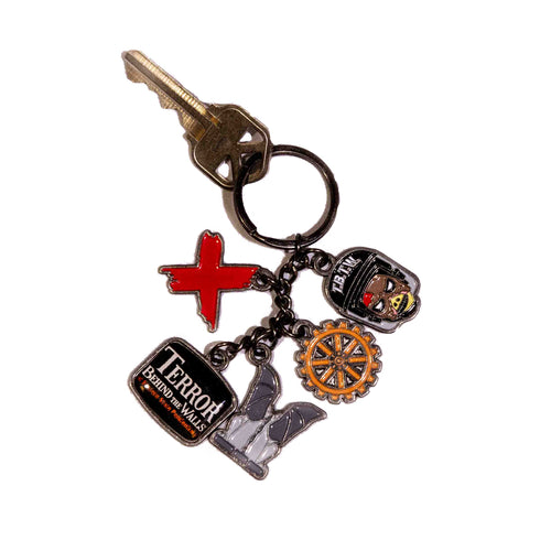 Terror Behind The Walls Charms Keychain