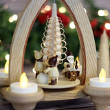 Santa and Children Tea Light Pyramid