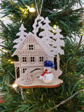 Ornament - Snowman in with Wilderness House Frosted Blue