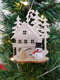 Ornament - Snowman in with Wilderness House