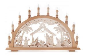 Natural Electric Nativity Schwibbogen