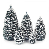 Trees - Spruce, Green and White - Set of 5