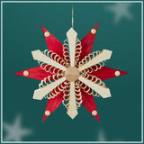 Ornament - 6 Point Poinsettia 13 cm / 5.1 inch