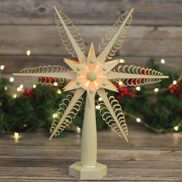 Tree Topper - Wood Chip Star Electric