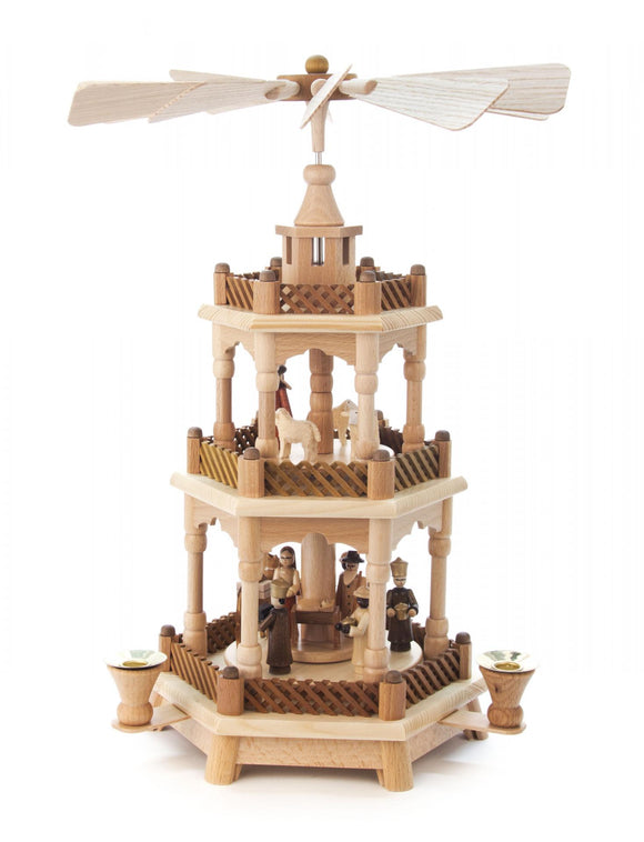 3 Tiered Nativity Pyramid