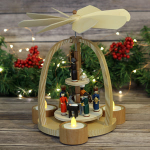 Nativity Tee Light Pyramid
