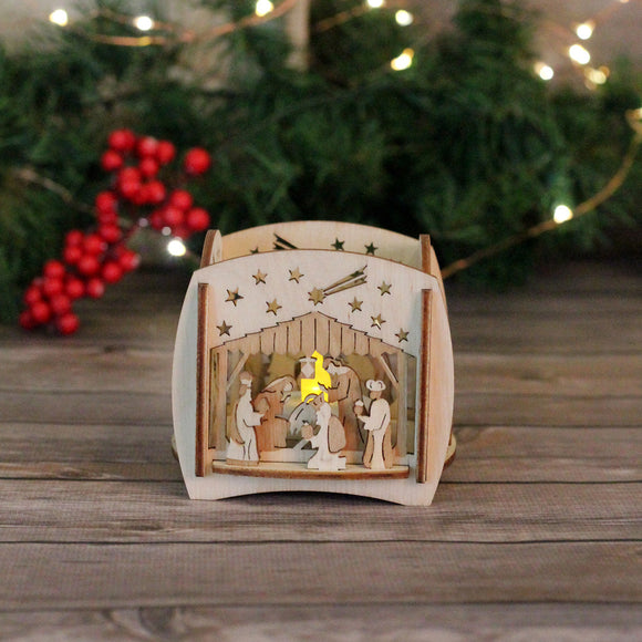 Tea Light Holder - Nativity