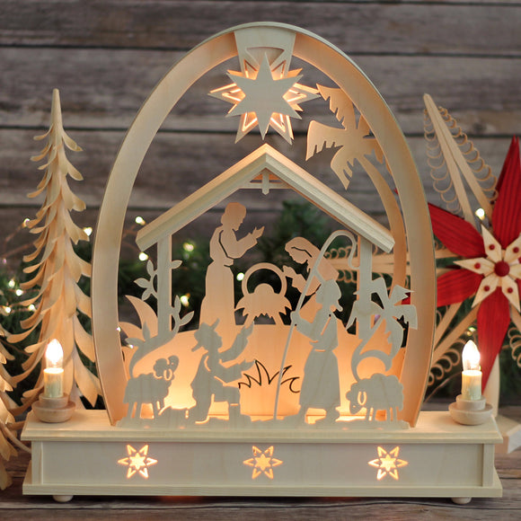 Electric High Arch Nativity Schwibbogen