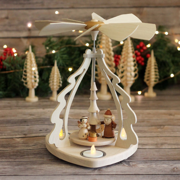 Santa and Angle Tea Light Pyramid