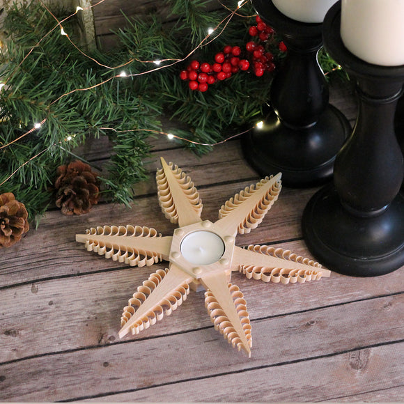 Tea Light Holder -6 Point Star 8.5 Inch Diameter