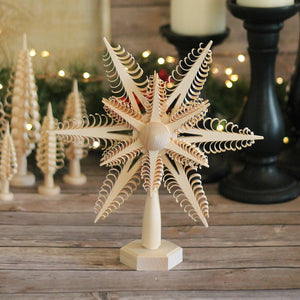 Tree Topper - Curled Wood Chip Star