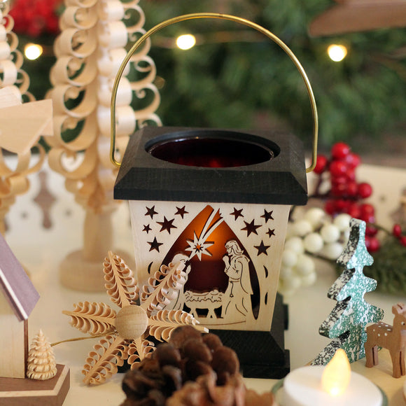 Lantern Tea Light Holder - Nativity