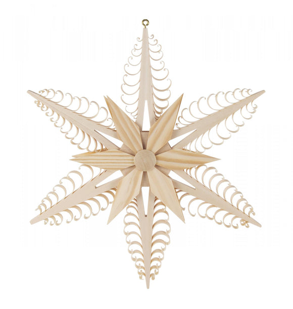 Ornament - 6 Point Star Detail Ornament large - 24 cm/ 9.4 inch