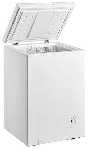 midea WHS-129C1 Single Door Chest Freezer, 3.5 Cubic Feet, White