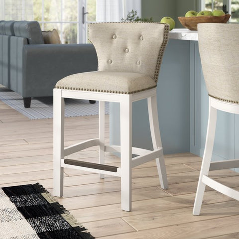 "Chasteen 25"" Bar Stool by Rosecliff Heights"