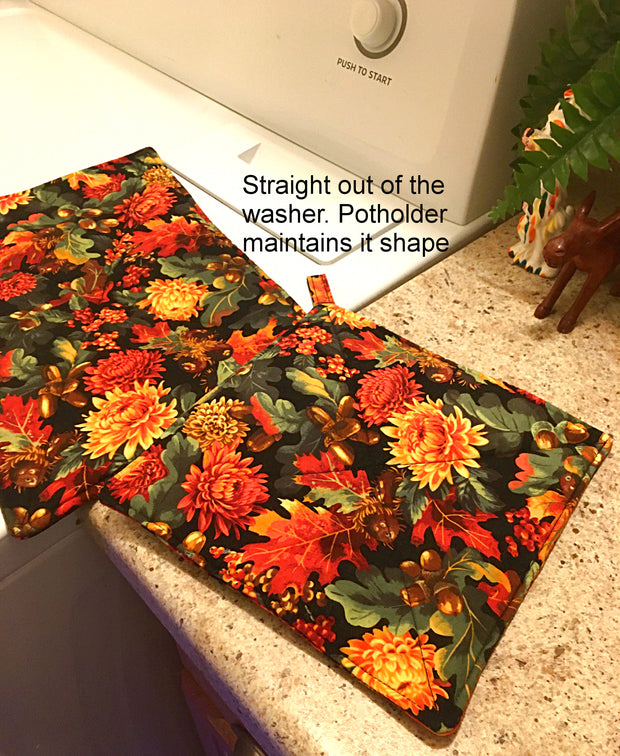 Potholder, Primavera Birch Periwinkle, Double Insulated