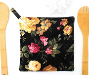 Potholder, Cottage Roses, Double Insulated