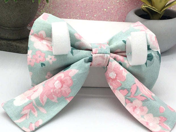 Dog Collar Girly Bow Tie with Tails - Choose Your Design