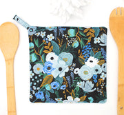 Potholder, Garden Party Blue, Double Insulated