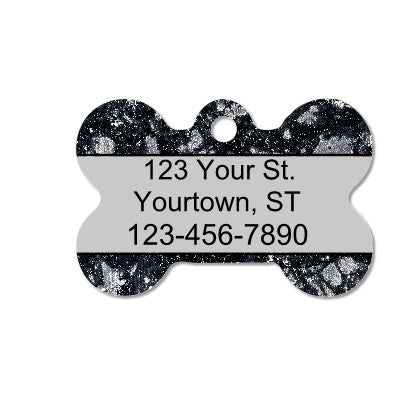 Gray & Black Marble Pet ID Tag - Double Sided