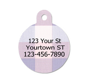 Lavender & Pink Plaid Pet ID Tag - Double Sided