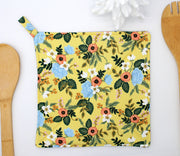Potholder, Primavera Birch Yellow, Double Insulated