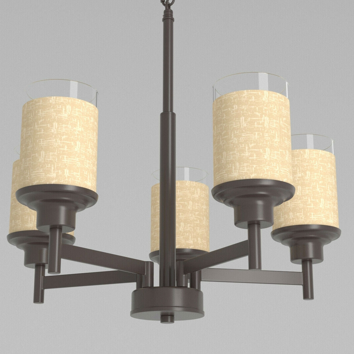 5 Light Farmhouse Espresso Pendant Chandelier