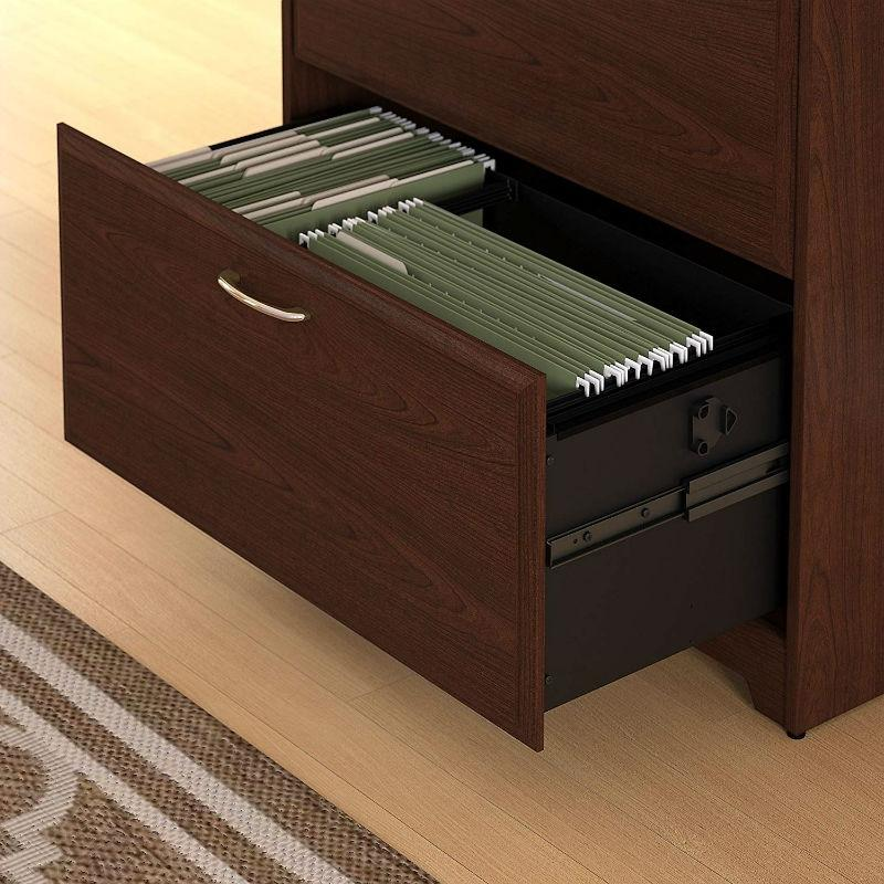2-Drawer Lateral File Cabinet in Cherry Wood Finish
