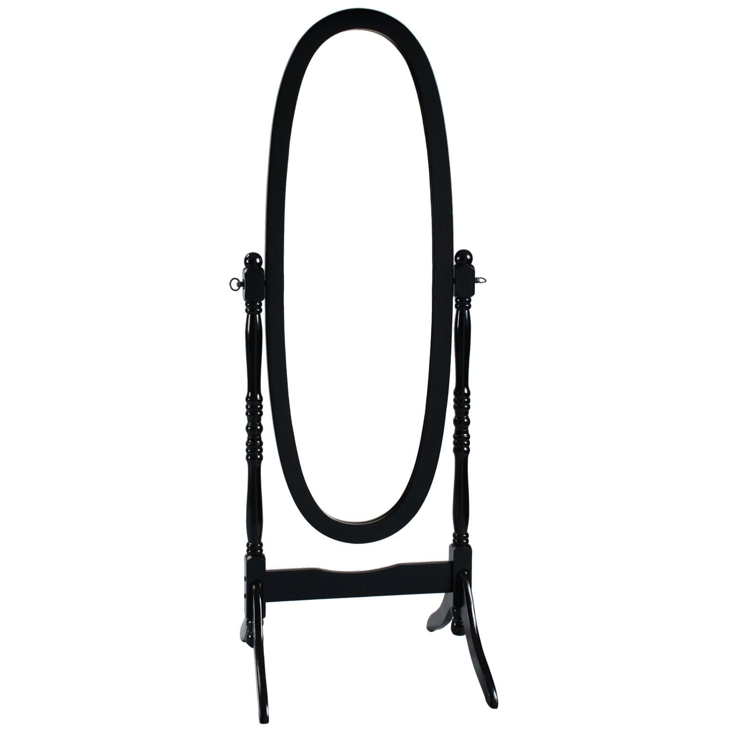 Black Oval Cheval Mirror Freestanding Floor Mirror