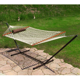 Rope Hammock Set with Stand Pad and Pillow 55 x 144-inch - Desert Stripe