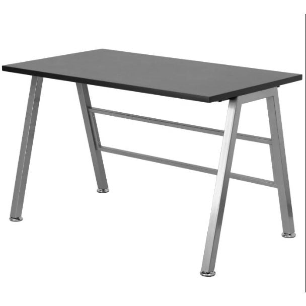 Modern Metal Frame Computer Desk with Black Laminate Top