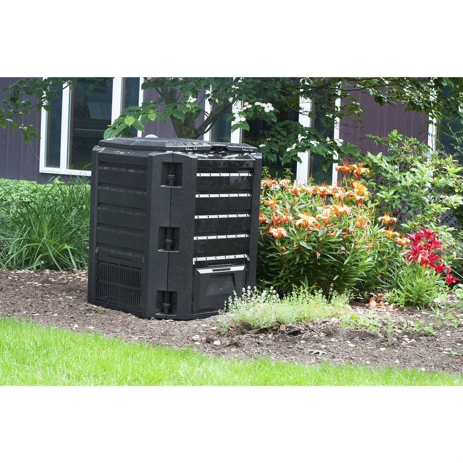 Black Composter 100-Gallon Compost Bin for Home Composting