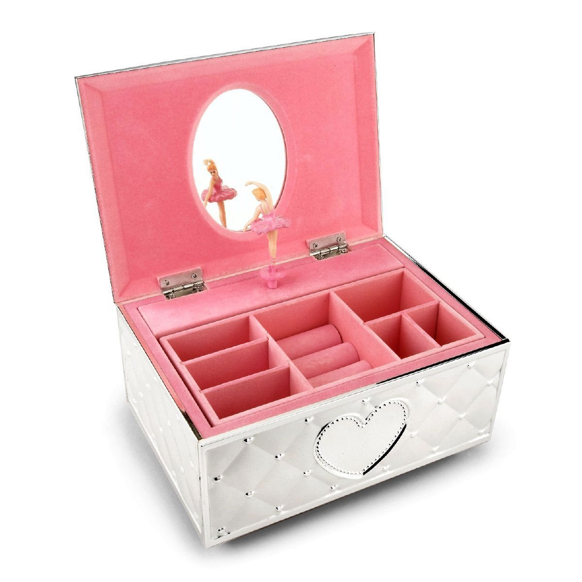 Musical Fur Elise Girls Ballerina Keepsake Metal Pink Lined Jewelry Box
