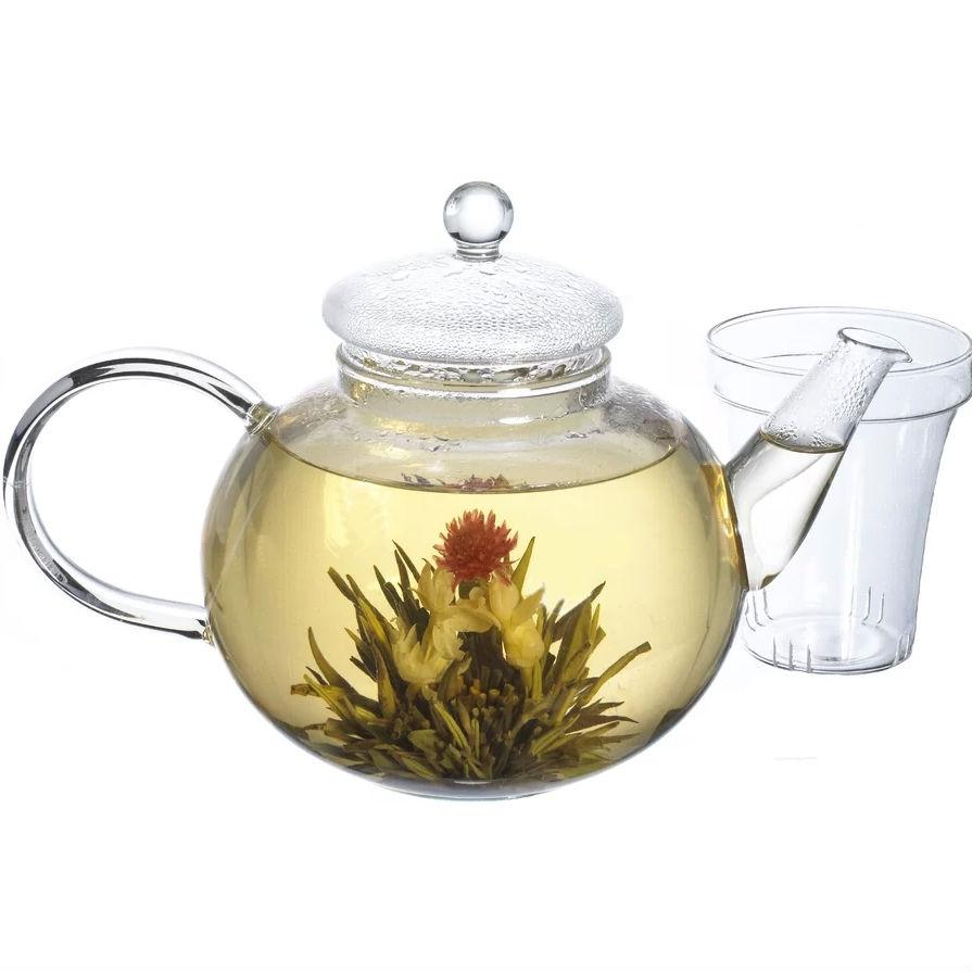 Borosilicate Glass 1.32 Quart Teapot with Removable Infuser