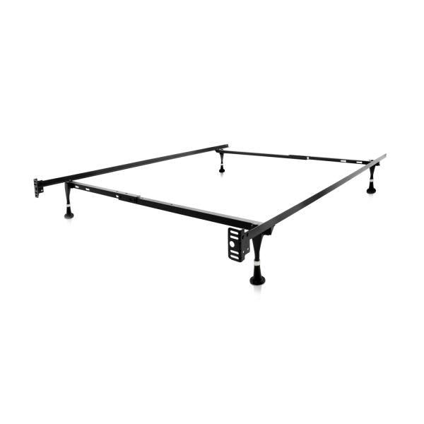 Twin / Full Bed Frame with Smooth-Glide Legs and Headboard Brackets