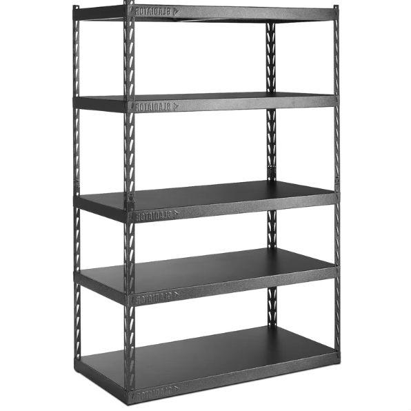 Heavy Duty 48-inch Wide 5-Shelf Metal Shelving Unit