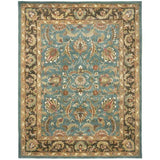 Handmade Heritage Blue/ Brown Wool Rug (8'3 x 11')