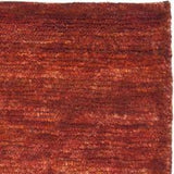 Hand-knotted Vegetable Dye Solo Rust Hemp Rug (8' x 10')