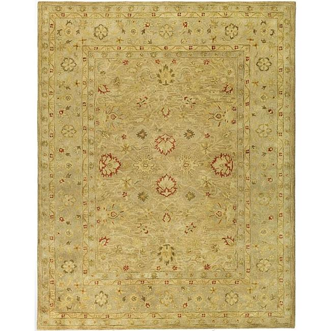 Handmade Majesty Light Brown/ Beige Wool Rug (9'6 x 13'6)