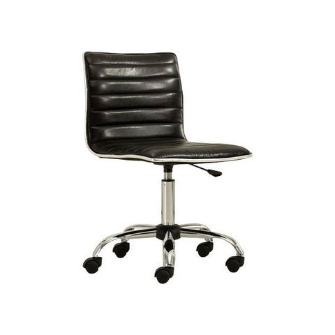 Heavy Duty Black Channel-Tufted Conference Chair