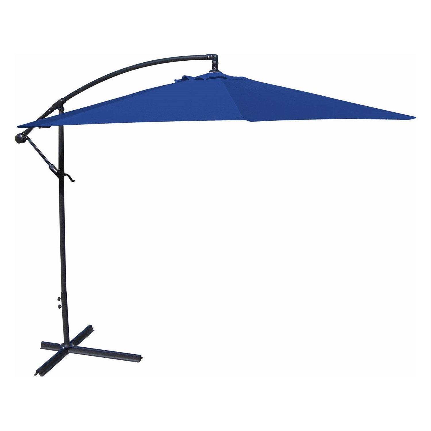 10-Ft Offset Cantilever Patio Umbrella with Royal Blue Canopy Shade