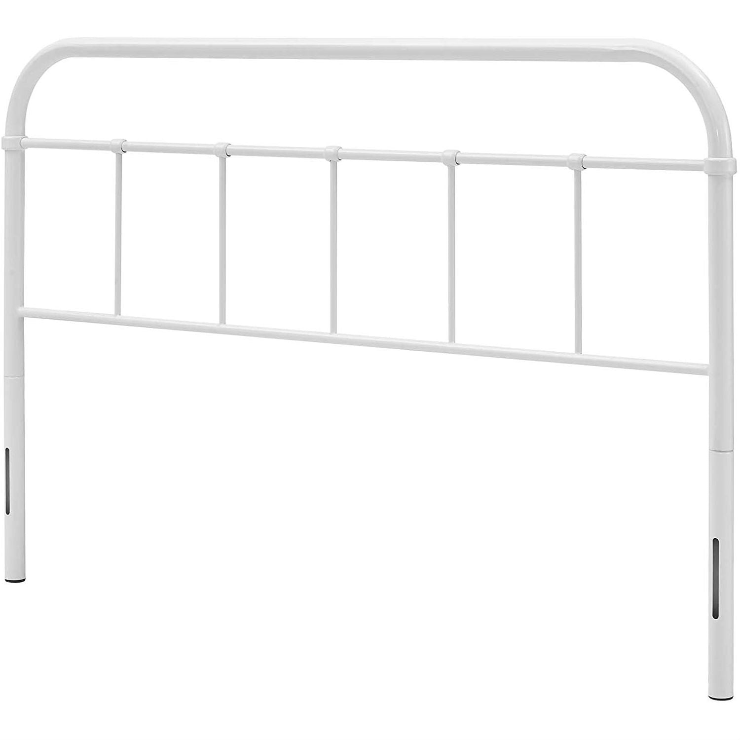 King size Vintage White Metal Headboard with Round Corners