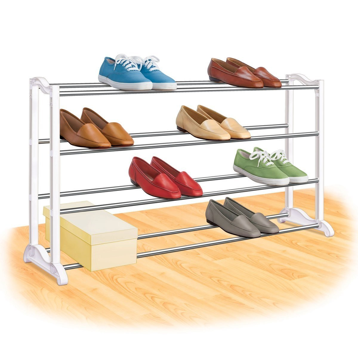 4-Tier Shoe Rack - Holds up to 20 Pair of Shoes