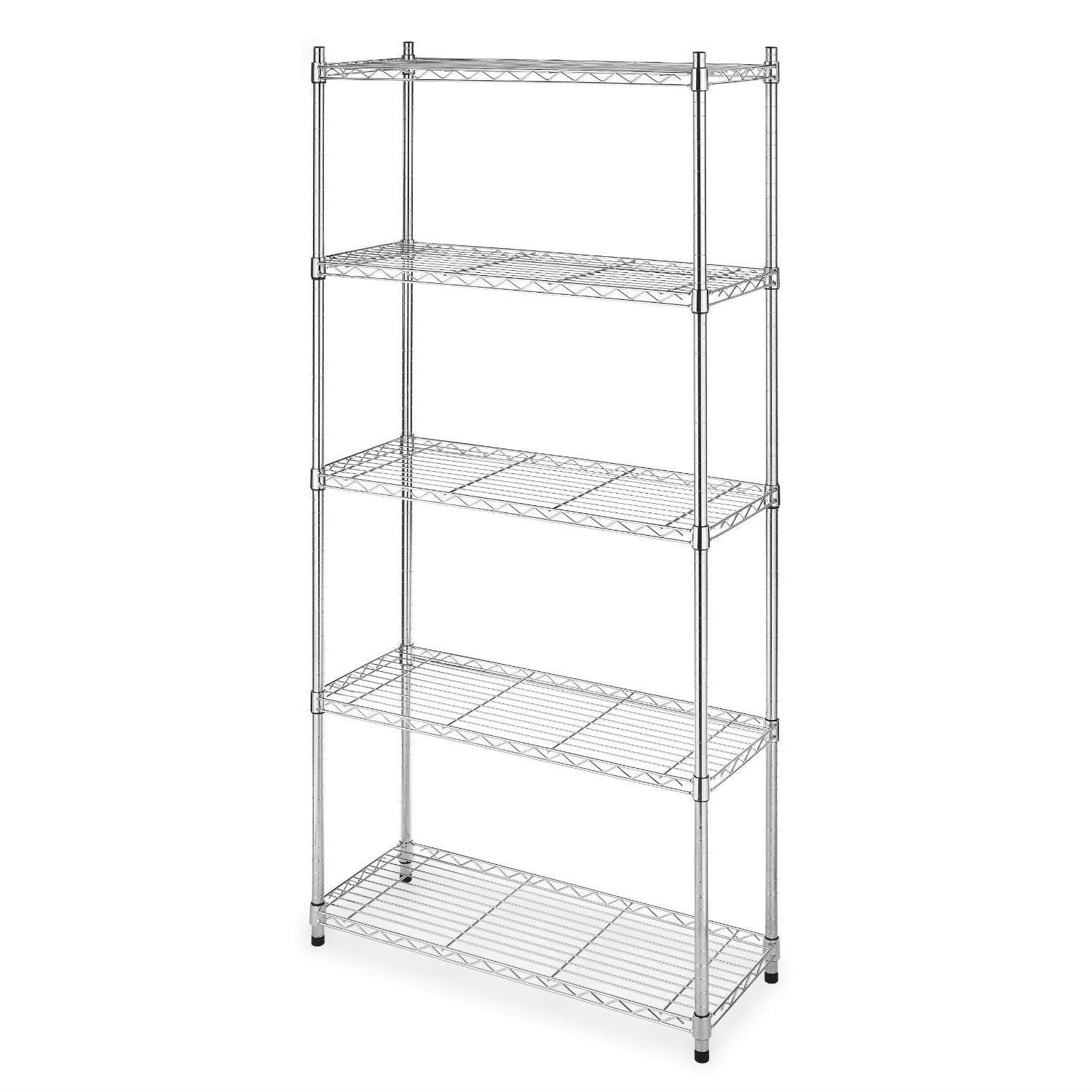 Heavy Duty 5-Shelf Metal Storage Rack Shelving Unit